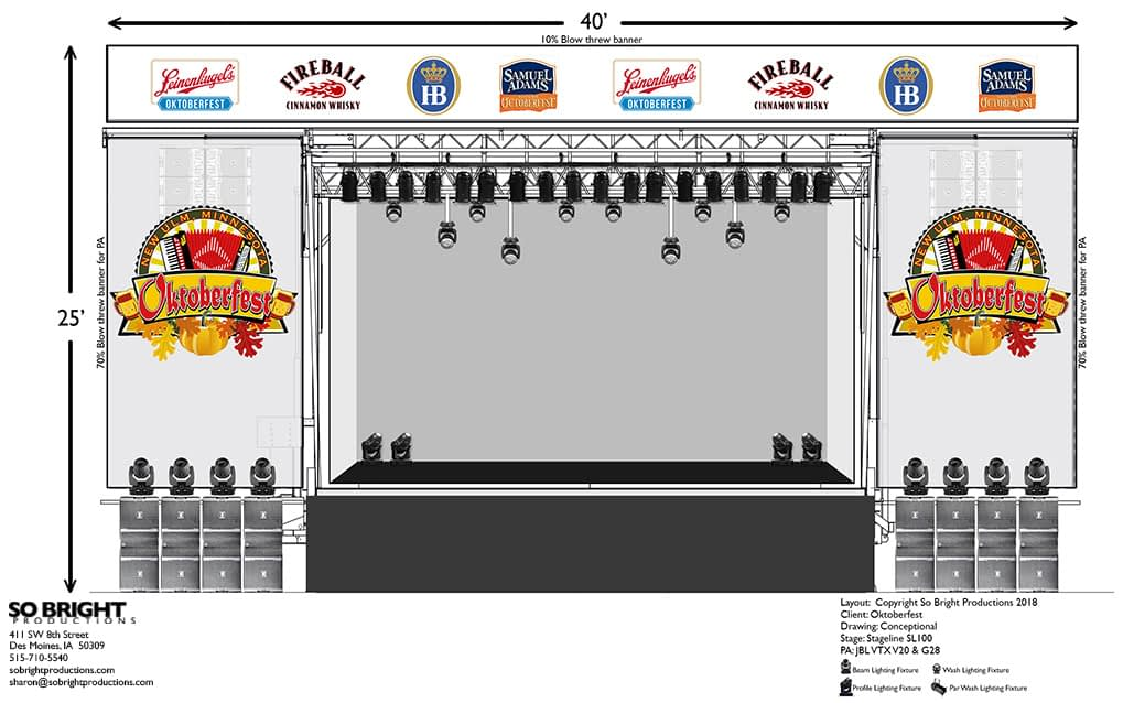 So Bright stage banner kit